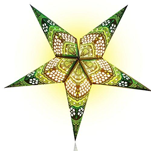 Happy-Sales-HSSL-FHCBGR-Honeycomb-Paper-Star-Lantern-Green