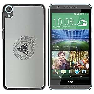 PC/Aluminum Funda Carcasa protectora para HTC Desire 820 tribal Viking oroboros snake dragon / JUSTGO PHONE PROTECTOR