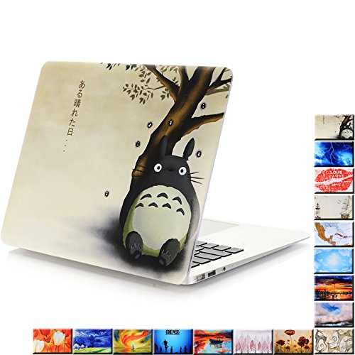 "YMIX  Plastic Cover Snap on Hard Protective Case for MacBook Pro 13"" Retina NO CD-ROM (A1502 & A1425) , Totoro"