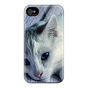 For Iphone 4/4s Premium Tpu Case Cover Blue Eyes Beauty Protective Case