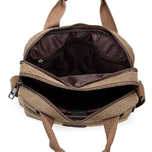 Bag de Transversal Capacidad de Gran Bolso ZHRUI Lienzo Casual del Messenger 1 la Caqui sección Bolso Mensajero para Paquete Caqui con Bolsa Hombres de Bolso Color Vintage AAtHvn