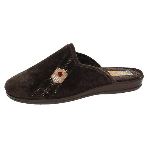 RUIZ BERNAL 958 Chinelas Marrones Hombre Zapatillas CASA: Amazon.es: Zapatos y complementos