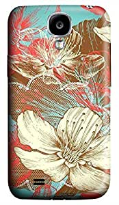 Samsung Galaxy S4 I9500 Hard Case - Illustration Flower Galaxy S4 Cases