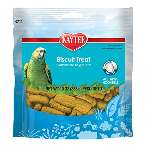 Macaw Bird Treats (Kaytee Biscuit Treat for Parrots, 10-Ounce)
