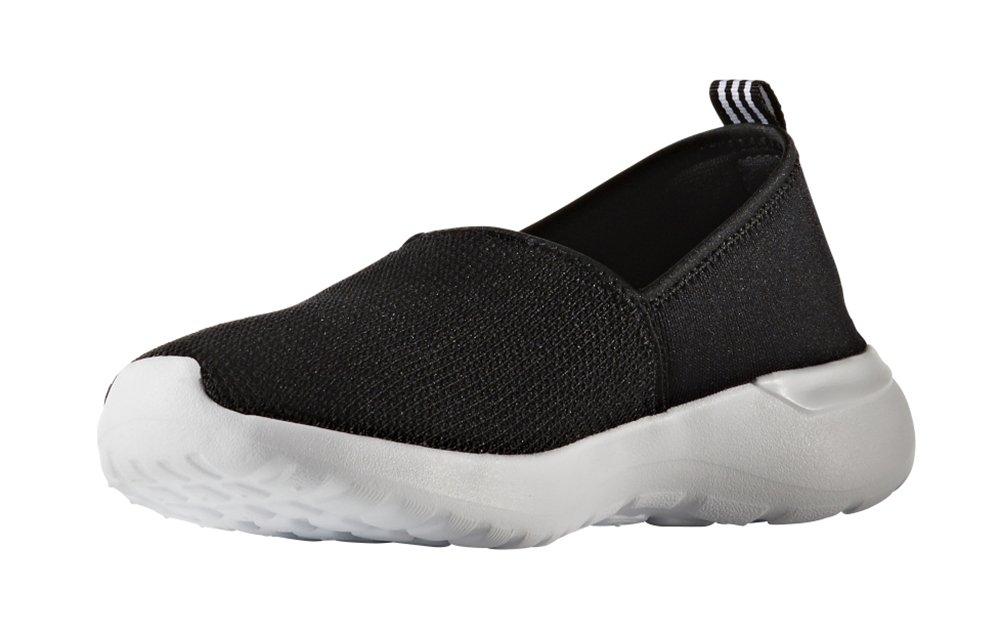 adidas Women's Cloudfoam Lite Racer Slip-On, Core Black/White, 8.5 B