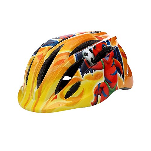 Cartoon Orange Kids Cycling Helmets Skating Motorcycle Protective Safty Helmet