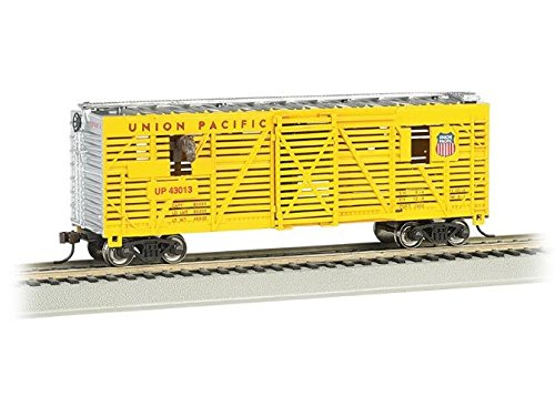 Bachmann 40' Animated Stock Car - Union Pacific with Horses - HO Scale (Pacific 40' Stock)