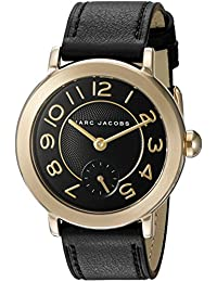 Marc Jacobs Women's 'Riley' Quartz Stainless Steel and Leather Automatic Watch, Color:Red (Model: MJ1471)
