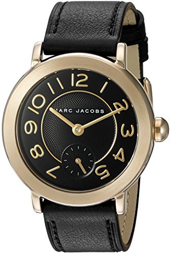 Marc Jacobs Women's Riley Black Leather Watch - - Marc Jacobs Black Women Watches