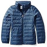 Amazon Essentials Girls' Lightweight Water-Resistant Packable Puffer Jacket, Navy, Medium