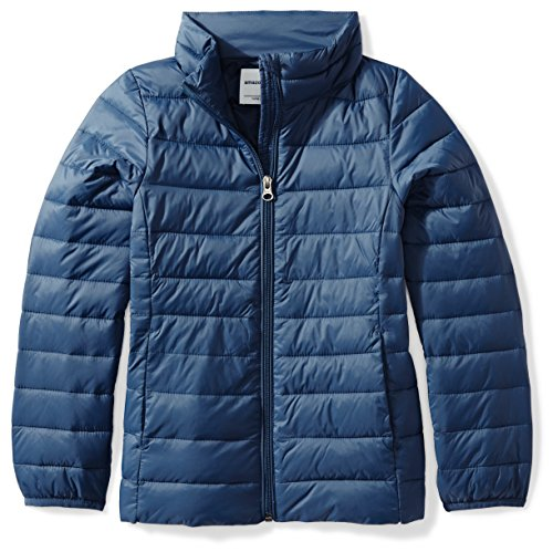 Price comparison product image Amazon Essentials Girls' Lightweight Water-Resistant Packable Puffer Jacket, Navy, XX-Large