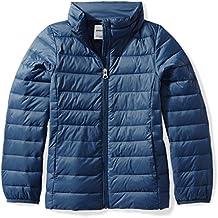 Amazon Essentials Girls' Lightweight Water-Resistant Packable Puffer Jacket
