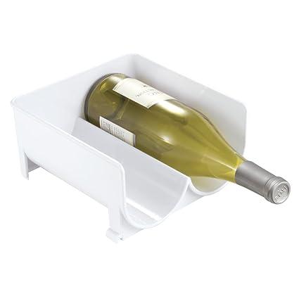 mDesign - Organizador apilable, para almacenamiento de botellas de vino; apto para refrigerador,
