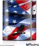 Sony PS3 Skin - American USA Flag (Ole Glory) Centered Eagle