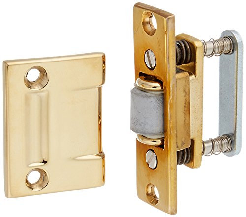 Baldwin 0430031 Roller Latch, Unlacquered Bright Brass