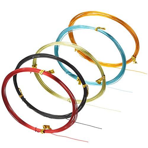 hestya 12 rolls multicolored aluminum craft wire 20