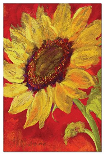 (Sunflower Prima Donna Blank Boxed Note Cards with Envelopes, All Occasion (12 Count), Cute Floral Stationery Notecards, FS66584 Tree-Free Greetings)