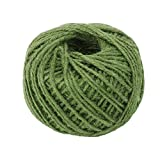 Natural Thick Rope Jute String Craft Twine for DIY & Arts Crafts, Christmas Gift Packing, Gardening and Recycling Wrap Gift 50Meters Green