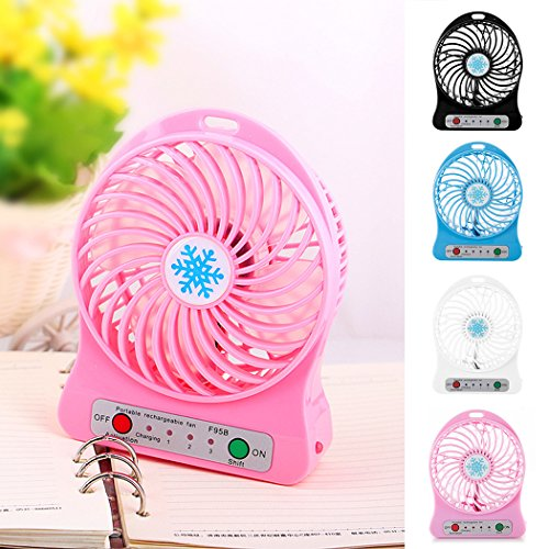 XWB Portable Fan Mini USB Rechargeable Fan Outdoor Fans Personal Fans for Traveling Fishing Camping Hiking Backpacking BBQ Stroller Picnic Biking Boating