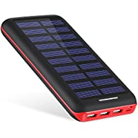 Battery Pack AKEEM Portable Charger 22000mAh External Battery Power Bank with Dual Input Port and Solar Charger,3 USB Ports for iPhone, iPad, Samsung Galaxy, Android and other Smart Devices