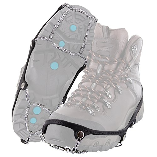 Yaktrax Diamond Grip All-Surface Traction Cleats for Walking on Ice and Snow (1 Pair), Large (Best Walking Trails In Minneapolis)