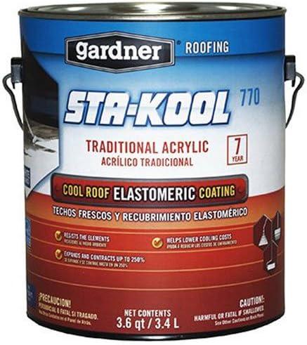 Gardner Series SK-7701 1G White Sta-Kool 770 Elastomeric Roof Coating