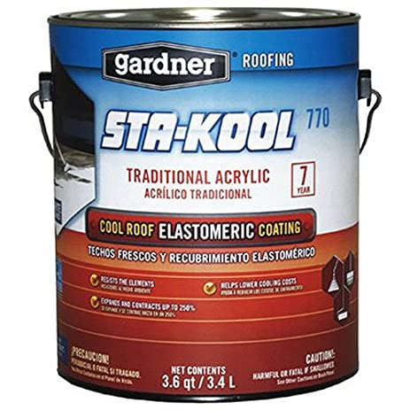 Gardner SK 7701 1G White Sta Kool 770 Elastomeric Roof Coating