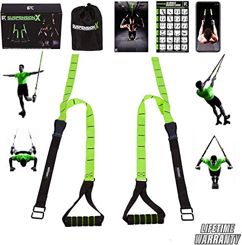 Fitness Kings Suspension X Bodyweight Resistance Suspension Straps Home Gym