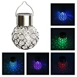 3pcs/lot Solar Colorful Lantern Luminous Magic Ball LED Light Controlled Induction Outdoor Garden Colorful Night Light Yard Party Hang Tree Decor Lights Lawn Lamp