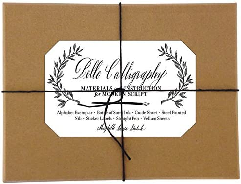Belle Calligraphy Kit Materials and Instruction for Modern Script