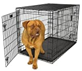 Petme Prima Durable Double Door Folding Dog Crate - Premium Pro Model w/ Divider and Tray (X Large)