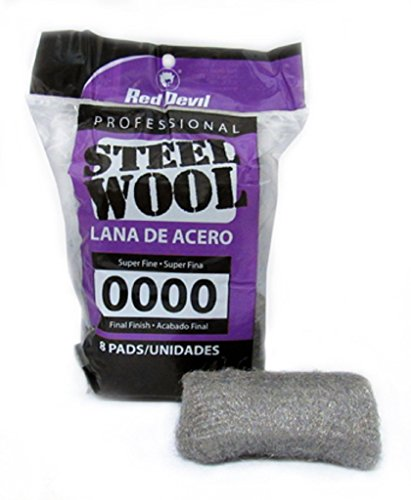 Steel Wool 0000 Malaysia: Red Devil 0320 Steel Wool, 0000 Super Fine, 8 Pads