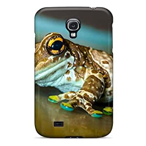 Tpu Case Cover For Galaxy S4 Strong Protect Case - Beautiful Frog Design