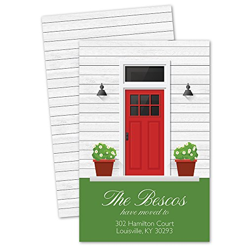 Personalized Moving Announcement - Front Door Personalized Moving Announcement - Red