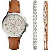 Fossil Abilene Chronograph Watch and Jewelry Box Set
