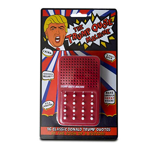 Greenacre Brands The Donald Trump Quote Machine - 16 Classic Quotes, One-Liners & Zingers from Donald Trump Himself - A Hilarious Gag Gift for Republicans & Democrats alike - Batteries -