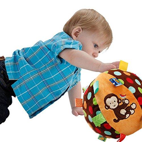 モバイル赤ちゃん教育赤ちゃんTaggies Chime Ball Soft Rattle掛け布団おもちゃ幼児幼児のKids Monkey Plush Shaking   B06X6NH72R