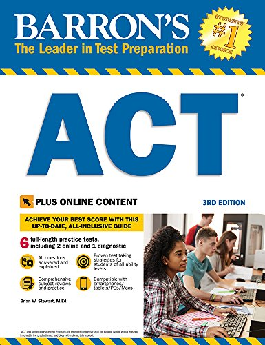 Barron's ACT, 3rd Edition: With Bonus Online Tests (Barron's Test Prep) (The Real Act Prep Guide 2nd Edition)
