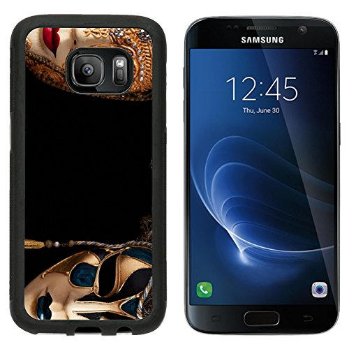 [MSD Premium Samsung Galaxy S7 Aluminum Backplate Bumper Snap Case Carnival in Venice image with ample copyspace Isolated On black IMAGE] (Venice Carnival Costumes Ideas)