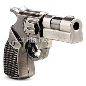 4GB Gun Revolver Style USB Flash Drive (Brown)