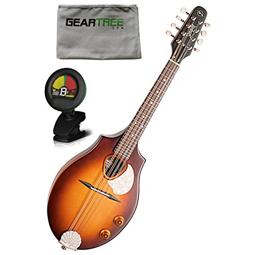Seagull S8 Mandolin Sunburst EQ w/ Polish Cloth and Tuner by Seagull