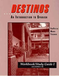 Amazon videoscript to accompany destinos an introduction to workbookstudy guide i lessons 1 26 to accompany destinos an fandeluxe