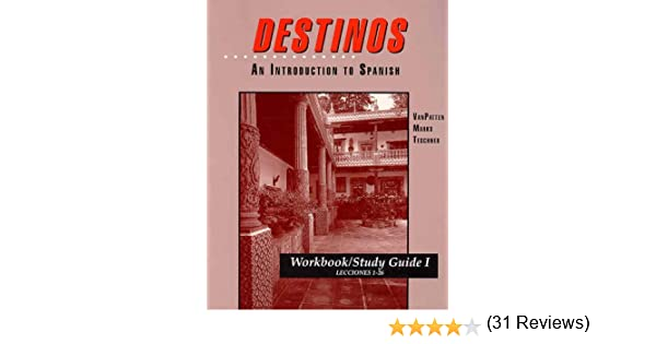 WorkbookStudy Guide I Lessons 126 to accompany Destinos An – Destinos Worksheets