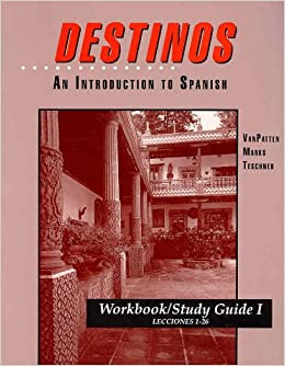 Printables Destinos Worksheets collection of destinos worksheet answers bloggakuten workbookstudy guide i lessons 1 26 to accompany an
