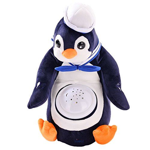 Polly Penguin Nightlight Soother with Favorite Lullabies, Nature Sounds and Projecting Stars & Moon Light by - Nature Soft Soother