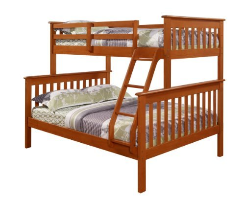 Twin over Full Bunk Bed with Built-In Ladder Finish: Espresso