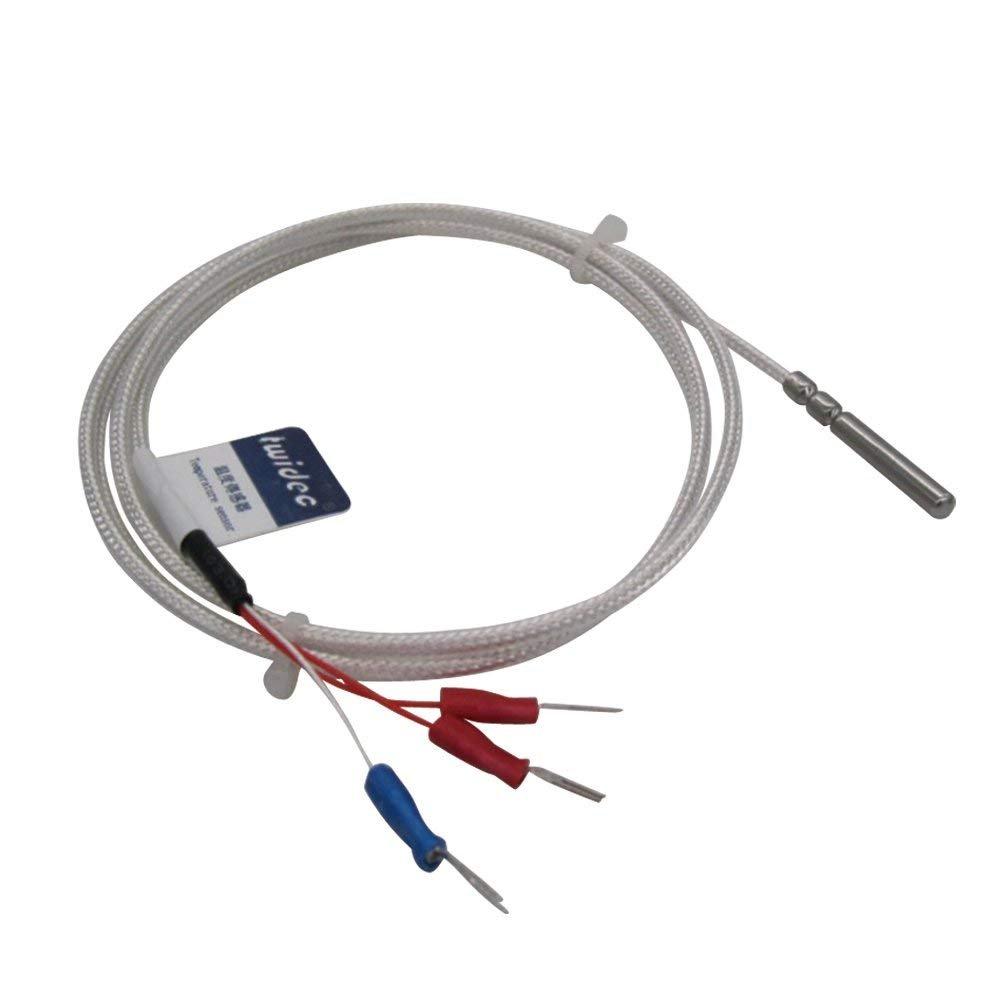 4//× 30/mm Range: -50/℃ -200/℃ 6.6feet ( 4mmx30mmx2/m ) Twidec//RTD PT100//étanche Syst/ème de capteurs de temp/érature Three-wire , Sonde en acier inoxydable