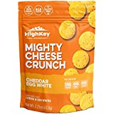 Cheddar & Egg White Cheese Crisps - Low Carb, Gluten Free, High Protein Healthy Crunchy Cheese – Savory, Keto & Diet Friendly Baked Cheese with Natural Ingredients, Pack of 4, 2.25oz Bags