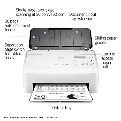 HP ScanJet Enterprise Flow 5000 s4 Sheet-feed OCR Scanner by HP (Image #1)
