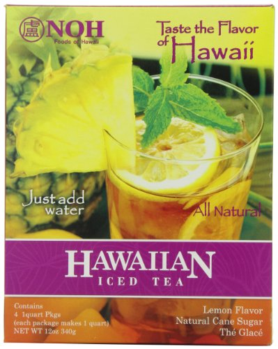 NOH Foods of Hawaii Hawaiian Iced Tea 4-Count, 3 Ounce Units (Pack of 6) by NOH Foods of Hawaii